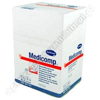 Kompresy MEDICOMP 5 x 5cm z włók.jał. 50 szt. (25 x 2 szt.)