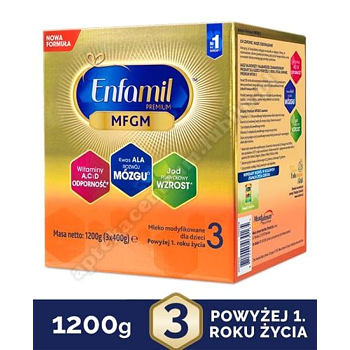 Enfamil Premium 3 mleko modyfikowane w proszku 1200 g 12 miesięcy+  d.w.2020.11.22