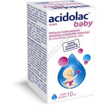 Acidolac Baby krople doustne 10 ml d. w.  2022. 05. 31