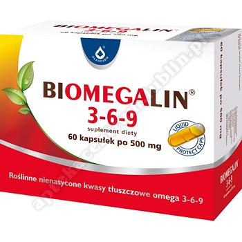 Biomegalin 3-6-9 kapsułki 0, 5 g 60 kaps.