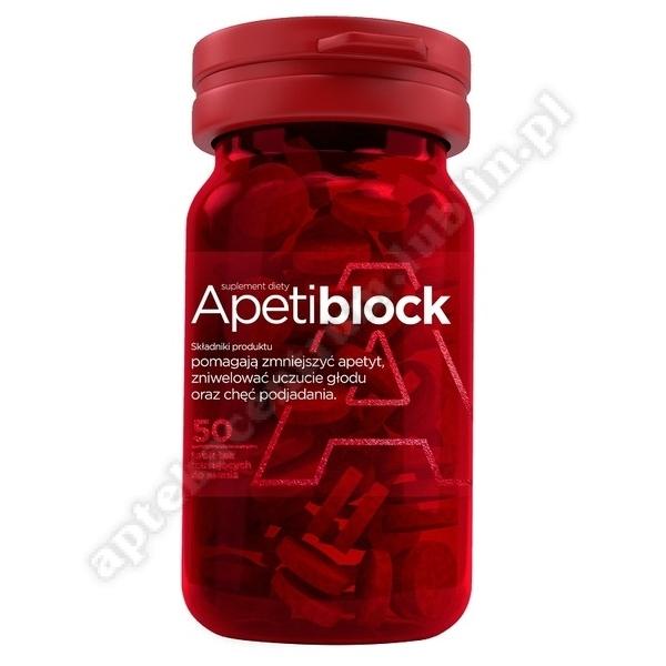 Apetiblock 50 tabletek musujące do ssania o smaku wiśniowo-malinowym