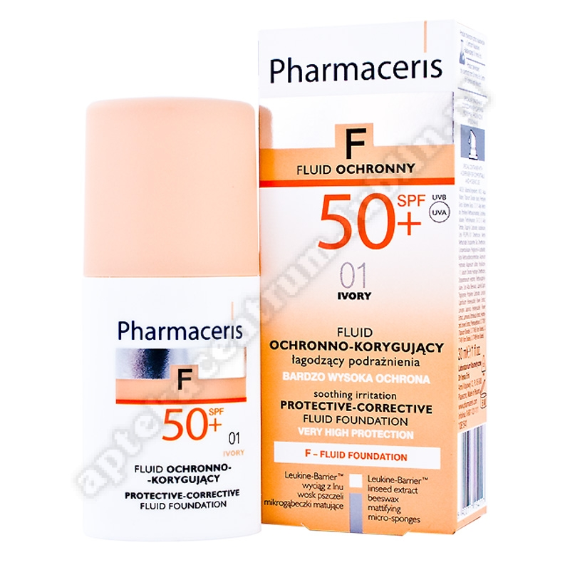 PHARMACERIS F Fluid ochr-kor01 IVORY SPF50