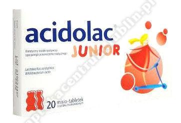 Acidolac Junior o smaku truskawkowym 20 tabletek