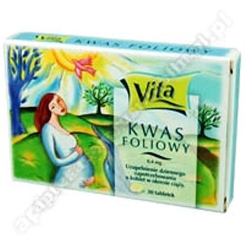 Kwas Foliowy Vita tabl.  0, 4 mg 30 szt.