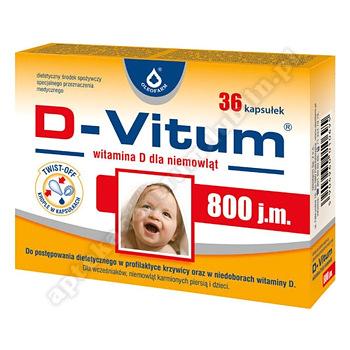 D-Vitum 800 j.m. witamina D dla niemowląt 36 kaps.