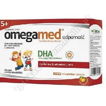 Omegamed Odporność 5+ Syrop w kapsułkach do żucia smak pomarańczowy 30 sztuk