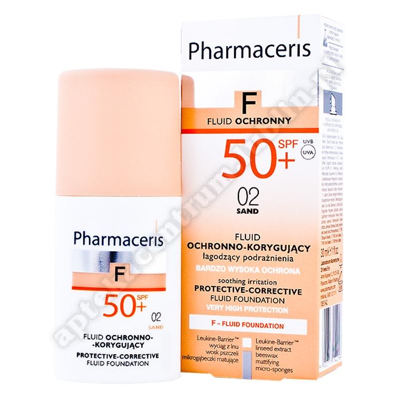 PHARMACERIS F Fluid ochr-kor.02 SAND SPF50