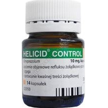 Helicid Control 10 mg x 14 kapsułek