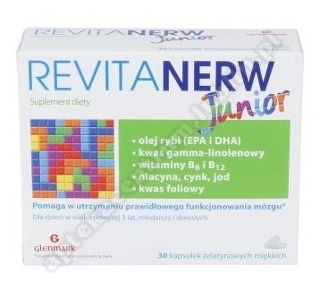 Revitanerw Junior kaps. żel. miękka 0, 5g 30kaps.