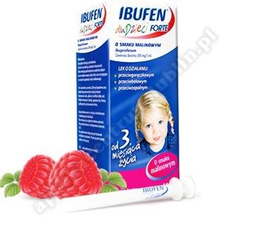 Ibufen dla dzieci Forte o sm.malinowym zawiesina 100ml