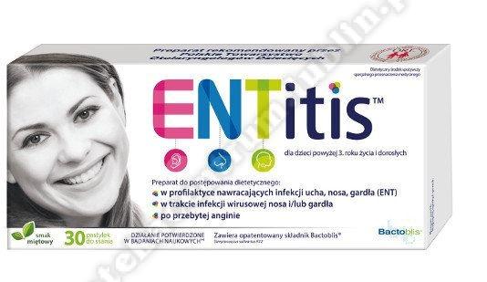 ENTitis Pastylki do ssania smak miętowy 30 szt
