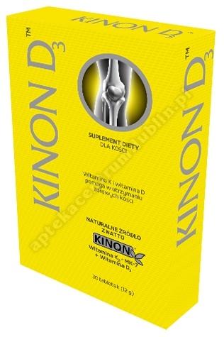 Kinon D3 tabl. 30 tabl.(vit. K2 +D3)
