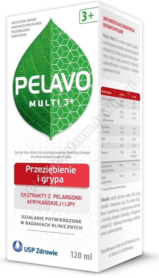 Pelavo Multi 3+ przeziębienie i grypa 120ml