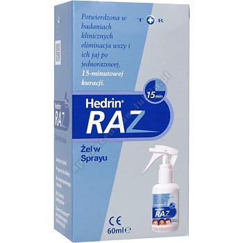 Hedrin Raz żel w sprayu 60 ml