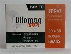 Bilomag Plus op.promocyjne kaps. 90kaps.+30 kaps. Gratis+Raniseptol Żel do higieny rąk-100 mlgratis