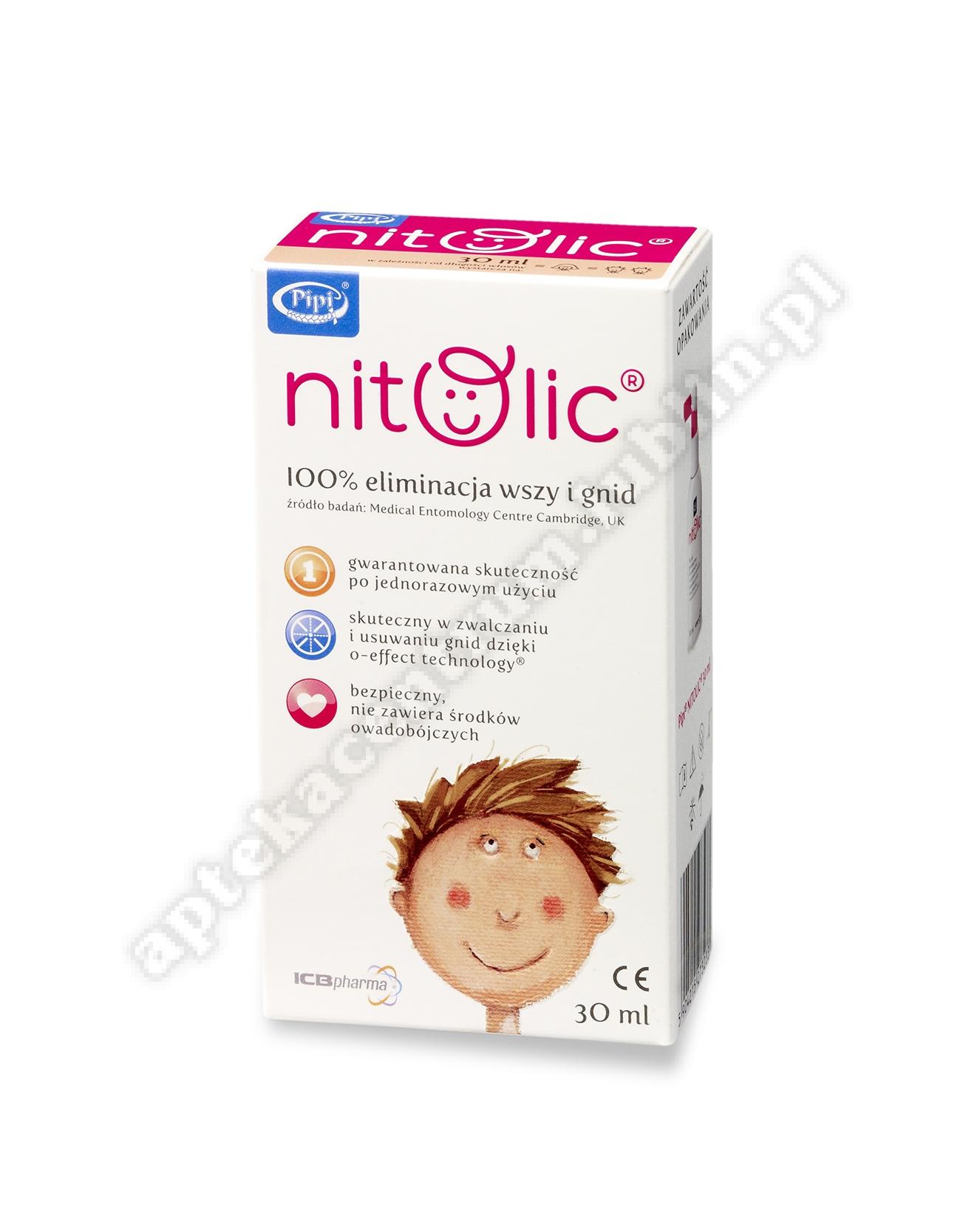 Pipi Nitolic p/wszawicy (30ml+grzebień) spray 30ml