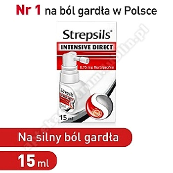 Strepsils spray na ból gardła Intensive Direct 15 ml silny ból aerozol