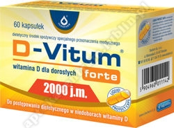 D-Vitum forte 2000 j.m. 60 kaps.+miły GRATIS