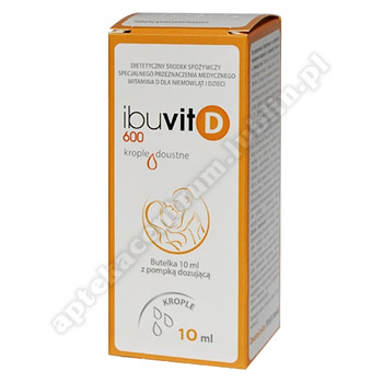 Ibuvit D 600 krople doustne 600j.m. 10ml