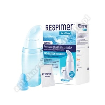 Respimer NetiFlow Zestaw do płukania nosa 6 sasz. (+ irygator)