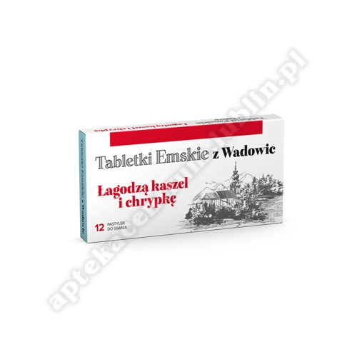 Tabletki Emskie z Wadowic 12 pastyl.