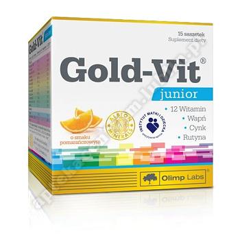 Olimp Gold-Vit Junior smak malinowy 15 sasz
