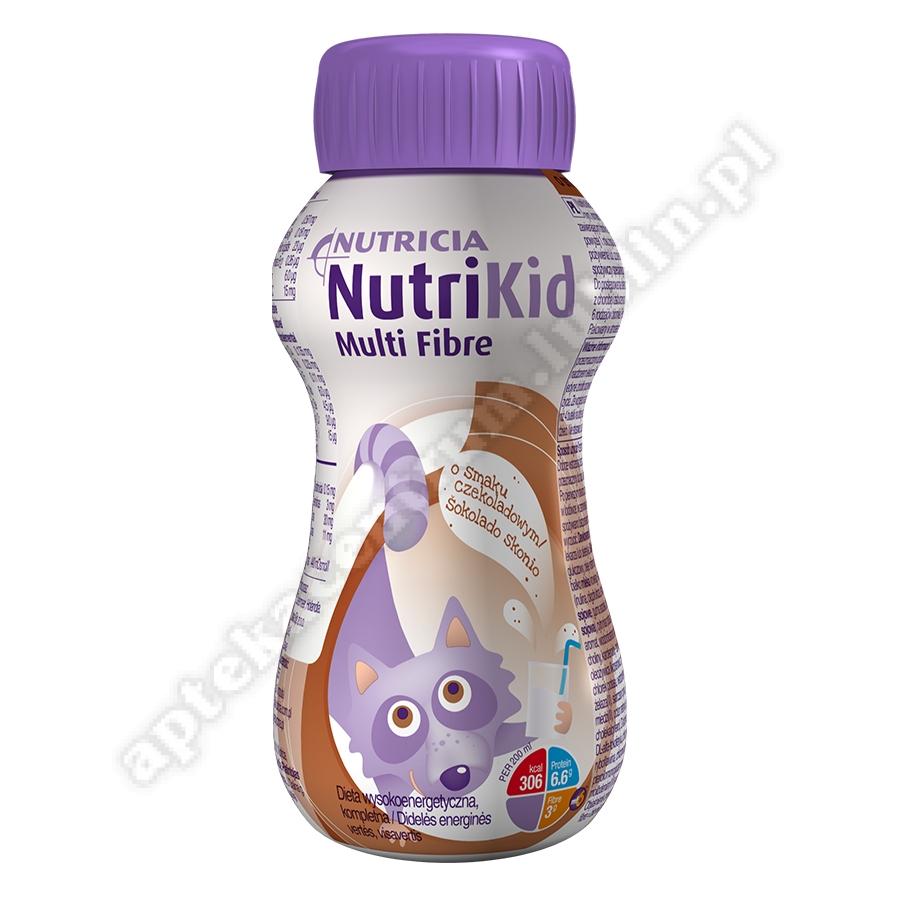 NutriKid Multi Fibre o smaku czekoladowym płyn 200ml
