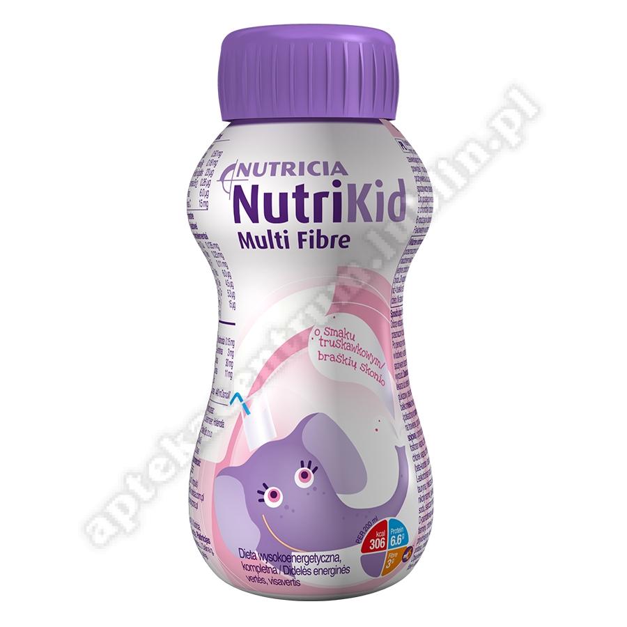 NutriKid Multi Fibre o sm. truskawkowym płyn 200ml