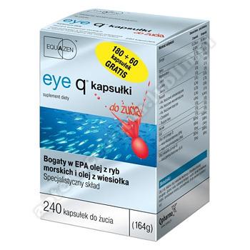 Eye Q 180 + 60 kapsułek Gratis kapsułki do żucia (240 kapsułek)