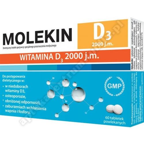 Molekin D3 2 000 j.m. tabl. 0,05mg 60tabl.(2x30)