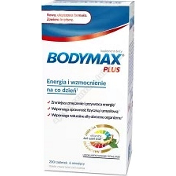 Bodymax Plus 200 tabletek+BIO OIL Żel 100 ml GRATIS