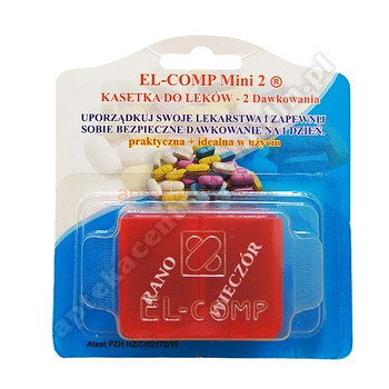 Kasetka do dawkowania leków 2-komorowa  MINI2