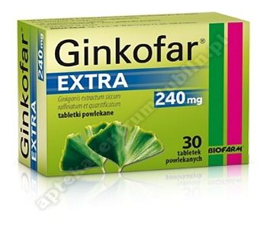 Ginkofar Extra tabl.powl. 0,24 g 60 tabl.