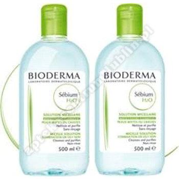 BIODERMA SEBIUM H2O Płyn micelarny 2x500ml data waż.2021.03.31