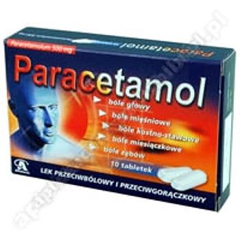 Paracetamol Aflofarm tabl. 0,5g 10tabl.(bl