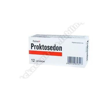 Proktosedon czop.doodbyt. 12 czop.