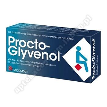Procto-Glyvenol czop.doodbyt. 0,4g+0,04g 10 czopków