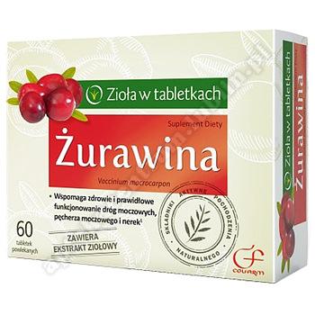 Żurawina tabletki powlekane 0,35 g 60 tabl.