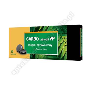 CARBO VP węgiel aktywowany 20 tabletek