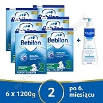 Bebilon 2 z Pronutra-ADVANCED prosz. 1200g 6pack+prezent żel myjący MUSTELA 500 ml