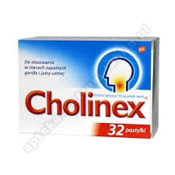 Cholinex pastyl.twarde 0,15 g 32 pastyl.