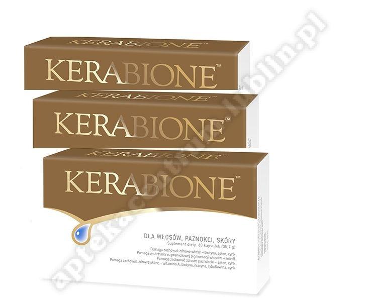 Kerabione 3 x 60 kapsułek--do 3 op  kerabione olejek do paznokci 11 ml gratis