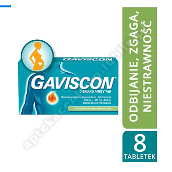 Gaviscon smak mięty tabletki 8 tabl.(blister)