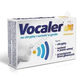 VOCALER miód cytryna pastylki do ssania 12 szt.