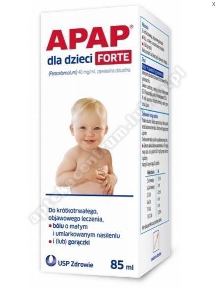 Apap dla dzieci Forte 0,04g/ml 85ml