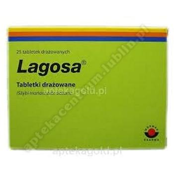 Lagosa tabl.drażow. 0,15 g 25 draż.