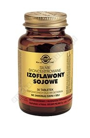 SOLGAR Izoflawony sojowe skoncentrowane 30 tabletek