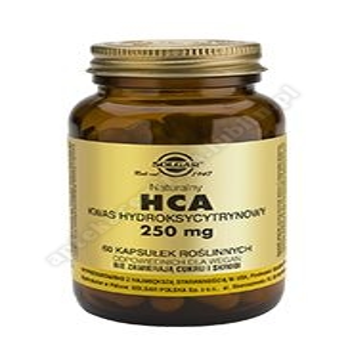 SOLGAR HCA Naturalny Kwas Hydroksycytrynowy 250 mg 60 kapsułek