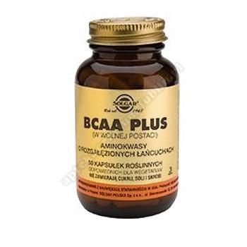 SOLGAR BCAA Plus Aminokwasy o rozgałęzionych łańcuchach 50 kapsułek