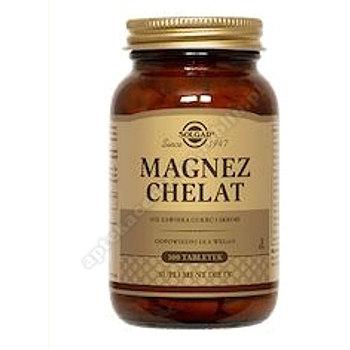 SOLGAR Magnez chelat aminokwasowy 100 tabletek